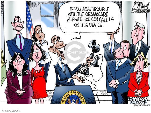 Cartoonist Gary Varvel  Gary Varvel's Editorial Cartoons 2013-10-27 American president