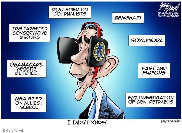 Cartoonist Gary Varvel  Gary Varvel's Editorial Cartoons 2013-10-30 investigation