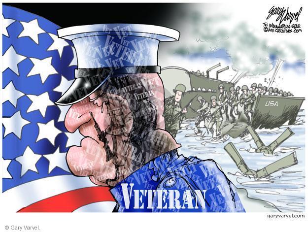 Cartoonist Gary Varvel  Gary Varvel's Editorial Cartoons 2013-11-11 Veterans Day