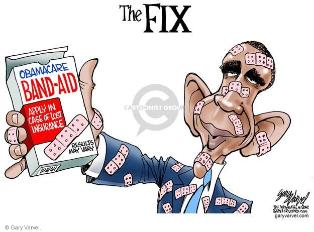 The FIX. Obamacare Band-Aid. Apply in case of lost insurance. Results may vary.