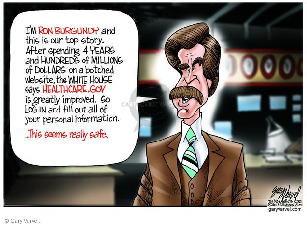 Cartoonist Gary Varvel  Gary Varvel's Editorial Cartoons 2013-12-03 dollar