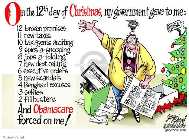 Gary Varvel  Gary Varvel's Editorial Cartoons 2013-12-17 Affordable Care Act jobs