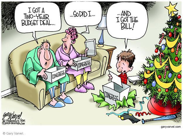 Gary Varvel  Gary Varvel's Editorial Cartoons 2013-12-19 budget deficit