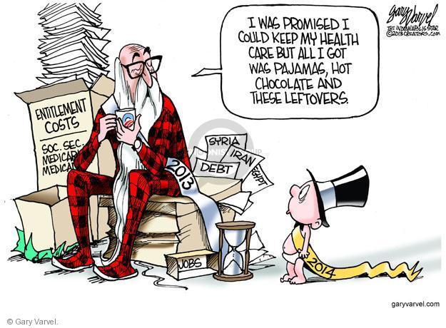 Gary Varvel  Gary Varvel's Editorial Cartoons 2013-12-29 2014 Obamacare