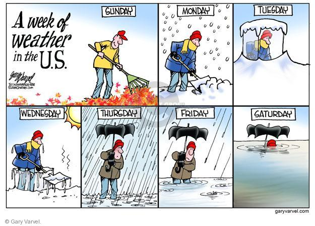 Cartoonist Gary Varvel  Gary Varvel's Editorial Cartoons 2014-01-08 weather