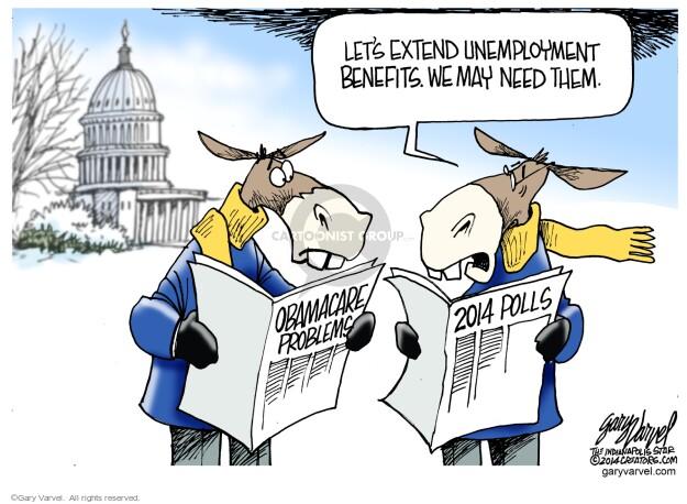 Gary Varvel  Gary Varvel's Editorial Cartoons 2014-01-09 unemployed