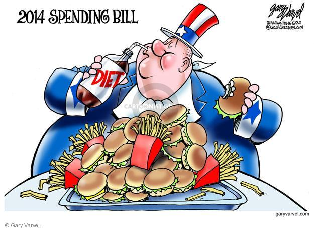 Cartoonist Gary Varvel  Gary Varvel's Editorial Cartoons 2014-01-16 government budget