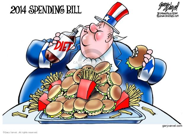 Gary Varvel  Gary Varvel's Editorial Cartoons 2014-01-16 diet