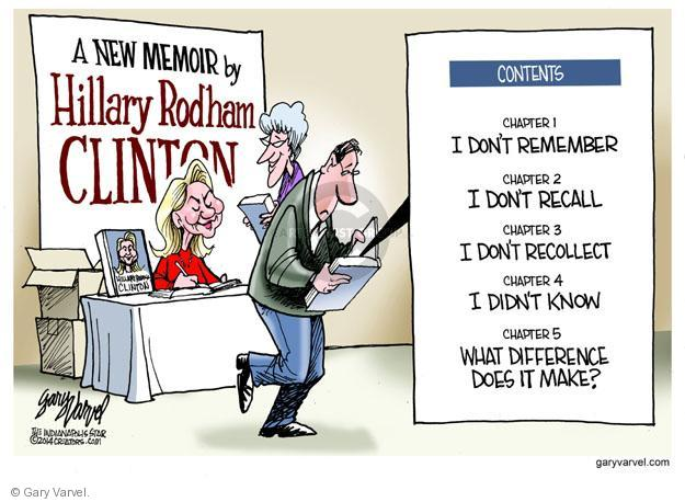 Cartoonist Gary Varvel  Gary Varvel's Editorial Cartoons 2014-01-26 remember