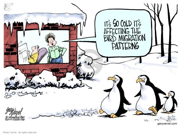 Cartoonist Gary Varvel  Gary Varvel's Editorial Cartoons 2014-02-02 weather