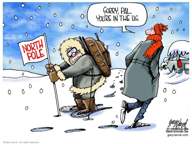 Cartoonist Gary Varvel  Gary Varvel's Editorial Cartoons 2014-02-05 weather