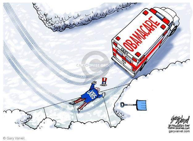 Gary Varvel  Gary Varvel's Editorial Cartoons 2014-02-06 Affordable Care Act jobs