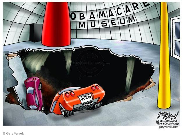 Gary Varvel  Gary Varvel's Editorial Cartoons 2014-02-14 Affordable Care Act jobs