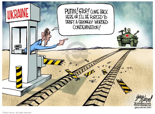 Cartoonist Gary Varvel  Gary Varvel's Editorial Cartoons 2014-03-09 American president
