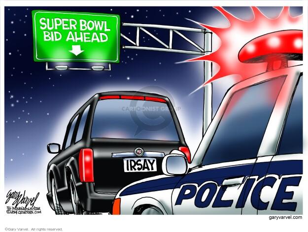 Cartoonist Gary Varvel  Gary Varvel's Editorial Cartoons 2014-03-19 officer
