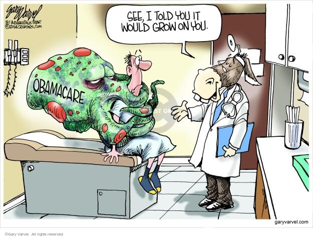Gary Varvel  Gary Varvel's Editorial Cartoons 2014-03-26 Obamacare