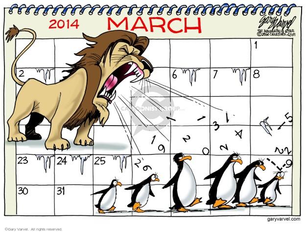 Cartoonist Gary Varvel  Gary Varvel's Editorial Cartoons 2014-03-27 weather