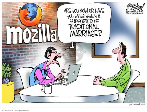 Cartoonist Gary Varvel  Gary Varvel's Editorial Cartoons 2014-04-09 marriage