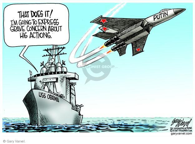 Cartoonist Gary Varvel  Gary Varvel's Editorial Cartoons 2014-04-16 American president