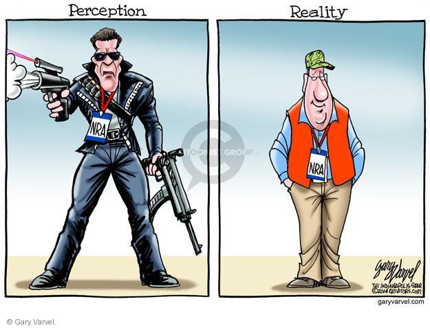 Cartoonist Gary Varvel  Gary Varvel's Editorial Cartoons 2014-04-25 weaponry