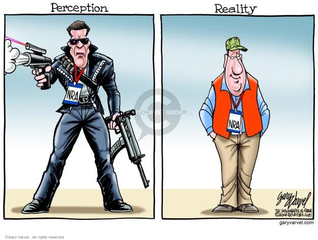 Cartoonist Gary Varvel  Gary Varvel's Editorial Cartoons 2014-04-25 gun rights