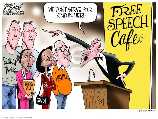 Cartoonist Gary Varvel  Gary Varvel's Editorial Cartoons 2014-05-16 freedom of speech