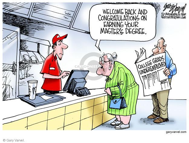 Cartoonist Gary Varvel  Gary Varvel's Editorial Cartoons 2014-05-22 graduate