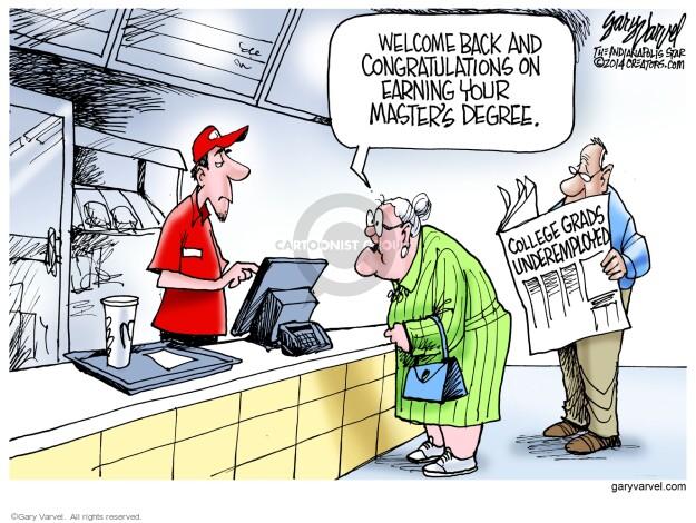 Cartoonist Gary Varvel  Gary Varvel's Editorial Cartoons 2014-05-22 education