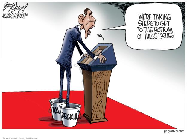 Cartoonist Gary Varvel  Gary Varvel's Editorial Cartoons 2014-06-05 Obama terrorism