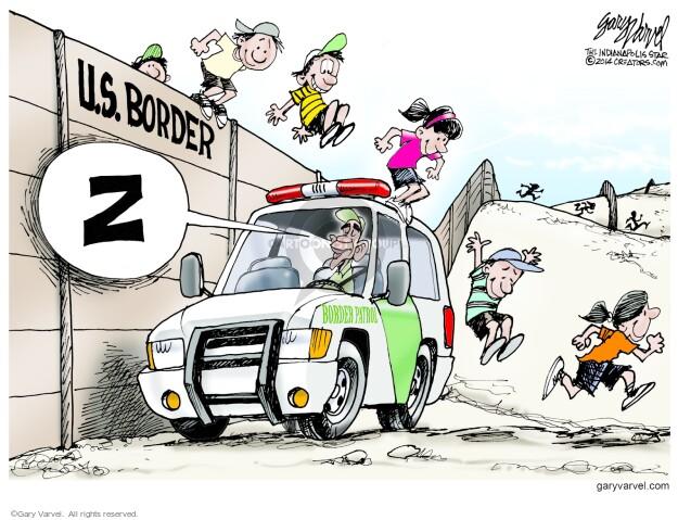 Gary Varvel  Gary Varvel's Editorial Cartoons 2014-06-10 border security