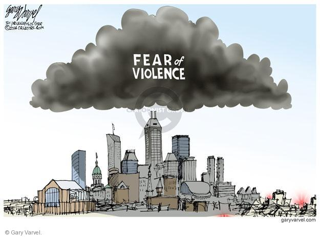 Gary Varvel  Gary Varvel's Editorial Cartoons 2014-07-13 fear