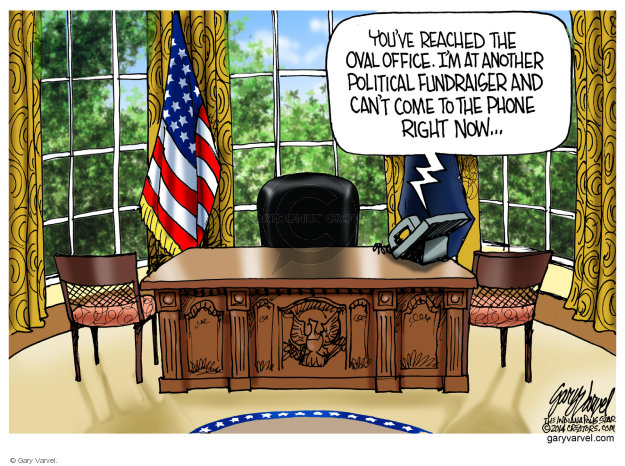 Cartoonist Gary Varvel  Gary Varvel's Editorial Cartoons 2014-07-28 Barack Obama