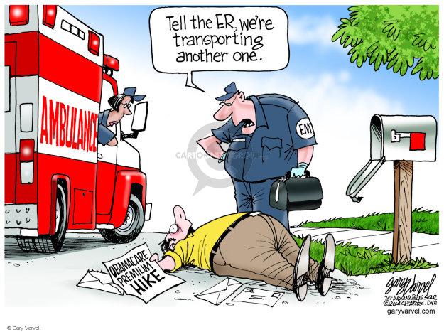 Gary Varvel  Gary Varvel's Editorial Cartoons 2014-08-07 healthcare.gov