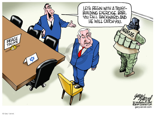Gary Varvel  Gary Varvel's Editorial Cartoons 2014-08-10 peace
