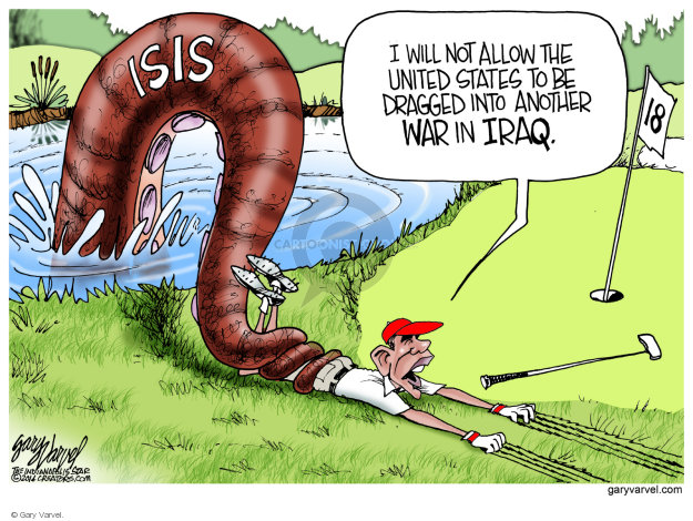 Cartoonist Gary Varvel  Gary Varvel's Editorial Cartoons 2014-08-11 Iraq war