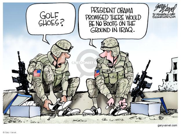 Cartoonist Gary Varvel  Gary Varvel's Editorial Cartoons 2014-08-17 soldier