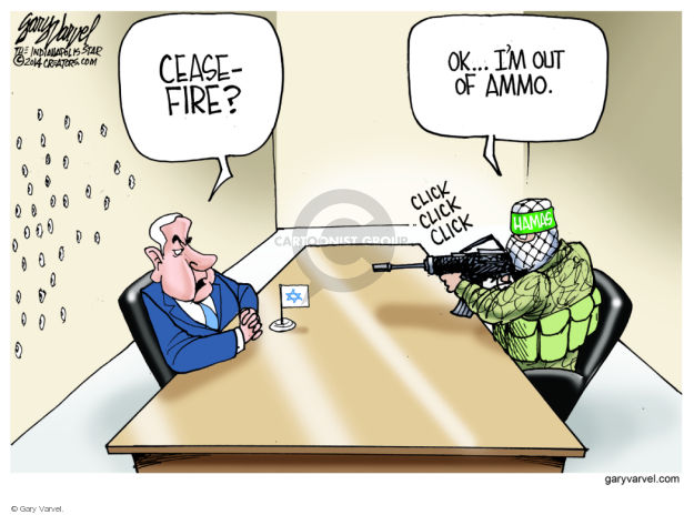 Ceasefire? OK … Im out of ammo. Click click click.