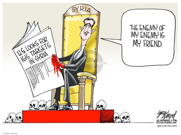 Cartoonist Gary Varvel  Gary Varvel's Editorial Cartoons 2014-08-31 Islam