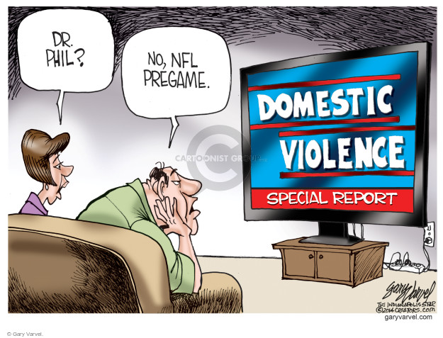 Cartoonist Gary Varvel  Gary Varvel's Editorial Cartoons 2014-09-19 domestic violence