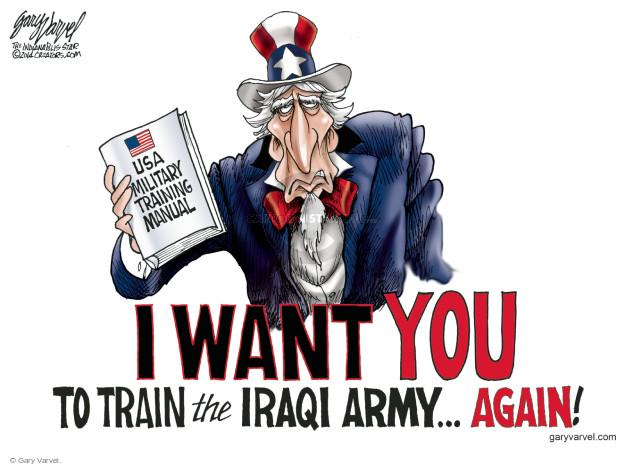 Cartoonist Gary Varvel  Gary Varvel's Editorial Cartoons 2014-09-21 Iraq war