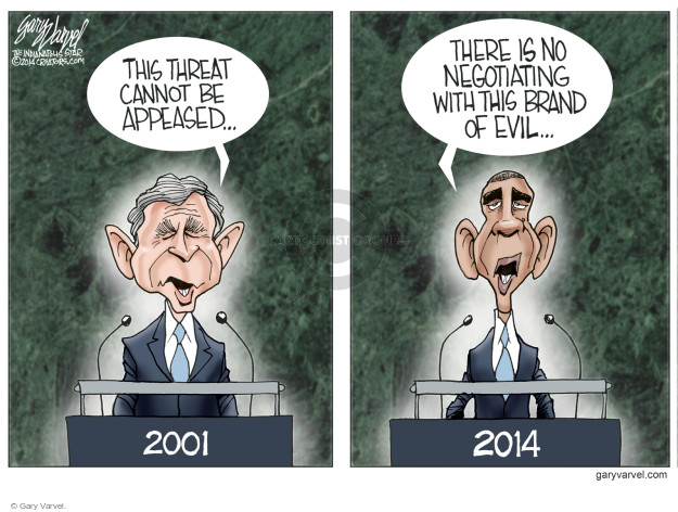 Gary Varvel  Gary Varvel's Editorial Cartoons 2014-09-26 George W. Bush