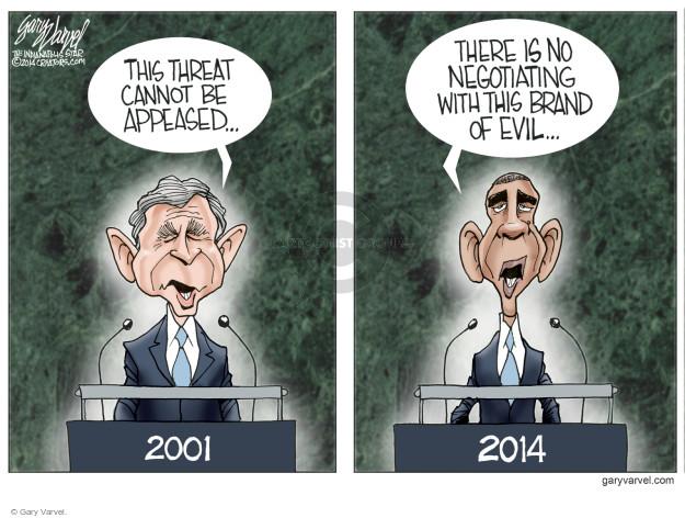 Cartoonist Gary Varvel  Gary Varvel's Editorial Cartoons 2014-09-26 Obama terrorism