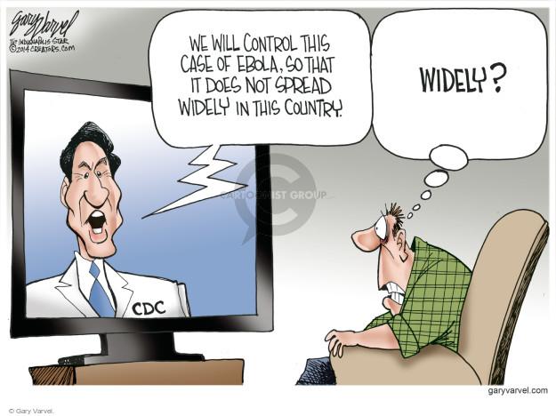 Cartoonist Gary Varvel  Gary Varvel's Editorial Cartoons 2014-10-06 infection