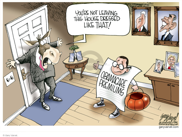 Cartoonist Gary Varvel  Gary Varvel's Editorial Cartoons 2014-10-15 Barack Obama