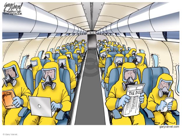 Cartoonist Gary Varvel  Gary Varvel's Editorial Cartoons 2014-10-17 airline