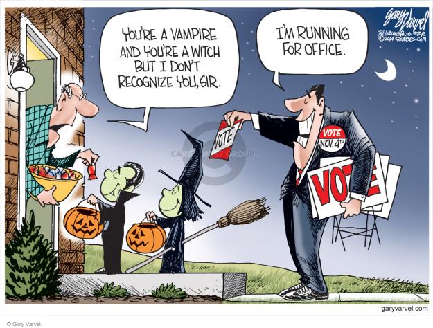 Gary Varvel  Gary Varvel's Editorial Cartoons 2014-10-27 midterm election