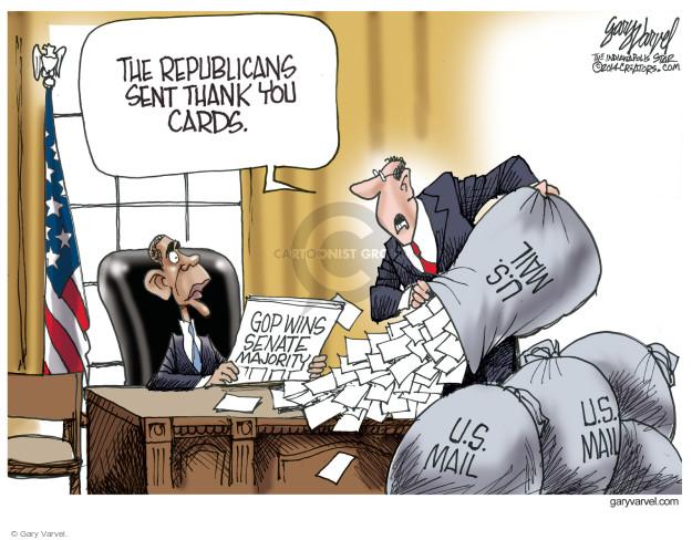 Cartoonist Gary Varvel  Gary Varvel's Editorial Cartoons 2014-11-05 republican party