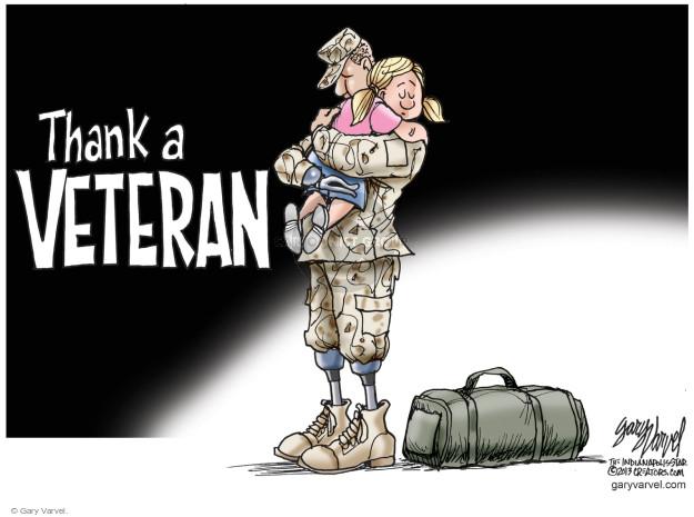 Cartoonist Gary Varvel  Gary Varvel's Editorial Cartoons 2014-11-11 Veterans Day