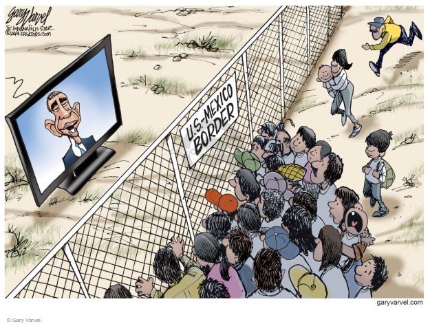 Cartoonist Gary Varvel  Gary Varvel's Editorial Cartoons 2014-11-20 immigrant