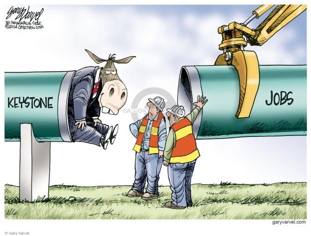 Cartoonist Gary Varvel  Gary Varvel's Editorial Cartoons 2014-11-24 construction